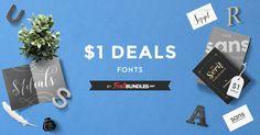 $1 Font SALE starts