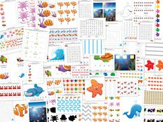 Ocean Printable Pack with 73 activities for children ages 2-7. Completing the activities in this Ocean Printable Pack will help children work on shapes, colors, sizes, patterning, puzzles, fine motor skills, mazes, math, and literacy. #oceanprintables || Gift of Curiosity