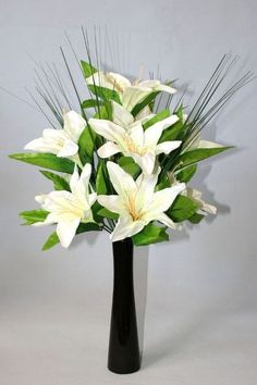 Lily Artificial Flower Arrangements In Vase How To Arrange Flowers A Tall