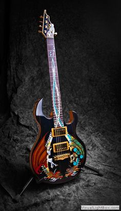 Stunningly beautiful custom hand painted guitar from Australia
