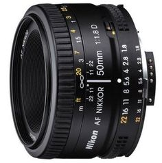 Nikon 50mm f/1.8D AF Nikkor Lens for Nikon Digital SLR $75