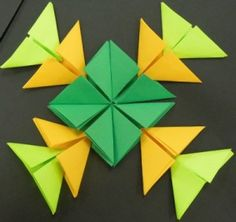 Origami 010 300x283 Origami Art for Children Origami Tower, Origami Cat, Cute Origami, Origami Dragon, Origami Butterfly, Origami Animals, Origami Flowers Tutorial, Origami Instructions, Paper Flowers Diy