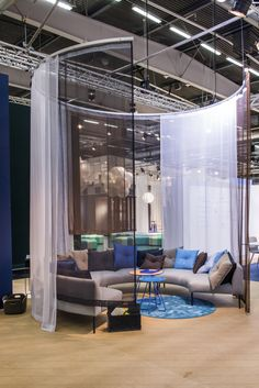 Chill Out area with Nooa sofas and Scoop tables. Stockholm Furniture & Light Fair 2016. #stockholmfurniturefair #sff2016 #sthlmfurnfair