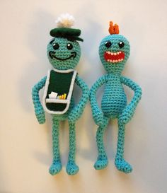 The Unknown Orchard: Mr. Meeseeks Amigurumi - Free Crochet Pattern. Rick and Morty inspired.