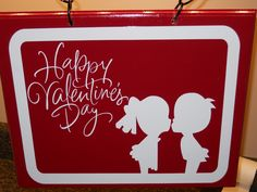outdoor sign for valentines will hang on small flag pole