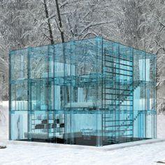 イタリアの建築家のカルロ・サンタンブロージオ(Carlo Santambrogio)氏とデザイナーのエノ・アロシッチ(Enno Arosic)氏による「ガラスの家シリーズ」。壁だけでなく、階段やドア、キッチンやダイニングなどの家具もガラスでできています。美しい風景をぞんぶんに楽し...