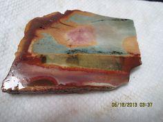 Polychrome Jasper Green Mauve Yellow Lapidary Slab Large Thick Cut Free Form Wrap Cut It