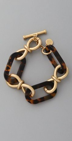 Good Life of Design: Tortoise Shell A Fall Wardrobe Staple.  Love this bracelet!