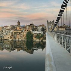 View of #Amposta from the suspension bridge in #TerresdelEbre +INFO www.turismeamposta.cat  Picture by @pinapli (Instagram)