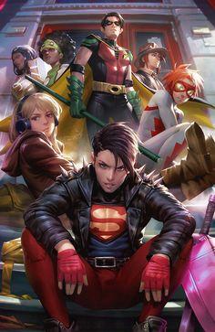 Arte Dc Comics, Dc Comics Superheroes, Dc Comics Characters, Dc Comics Art, Young Justice Characters, Young Justice Comic, Superhero Characters, Batman Dc Comics, Young Justice Superboy