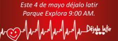 Medellin, 4 de mayo del 2013 a las 9 am en el parque explora inicia 7 marcha nacional por la vida, anímate y participa