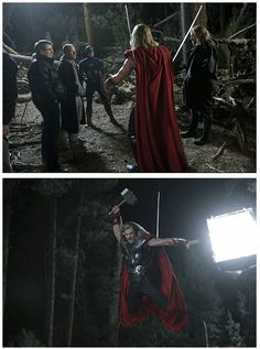 The Avengers ..behind the scenes