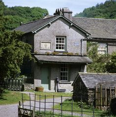 View of Hill Top, the farmhouse home of Beatrix Potter. She added this new wing to accommodate the farm tenant who had vacated the old house for her use.