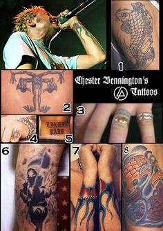 Tattoos ... Chester Bennington from Linkin Park