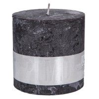 Kaarsen - Accessoires - PTMD Rustic Candles, Pillar Candles, Burning Candle, Unique Colors, Wax, Candle Holders, Traditional, Modern, Charcoal Black