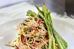 Zoe Bingley-Pullin Thai pasta salad with spicy cashew dressing recipe Vegetarian Recipes, Cooking Recipes, Healthy Recipes, Thai Pasta, Quick Healthy Meals, Best Chef, Noodle Recipes, Dressing Recipe, Alter