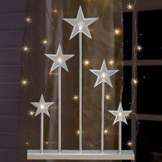 Stjernelysestaken Kvibille 45 cm i sølv 6507014