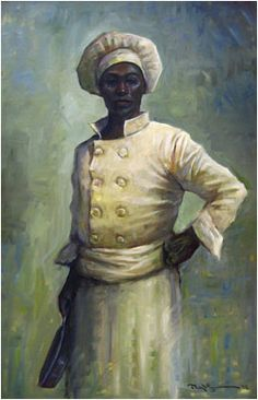 """John Carroll Doyle, American Impressionist - Charleston Artist. """"The Head Chef, An American Success Story"""". This painting was inspired by the true story of Johnny Williams, who started as a bus boy at 82 Queen restaurant in Charleston, SC ~"""