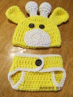 Crochet Newborn Giraffe Photo Prop