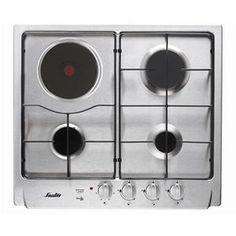 SAUTER - STE117X _ Table de cuisson Gaz - 1 foyer rapide 3,1 kW - Allumage intégré aux manettes - Sécurité gaz par thermocouple - Grilles émaillées - Finition inox.