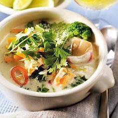 Fisksoppa på thailändskt vis