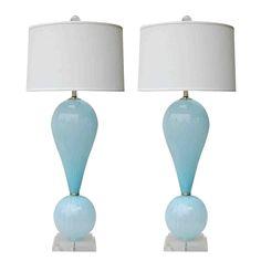 Light Blue Poodle Joe Cariati Lamps