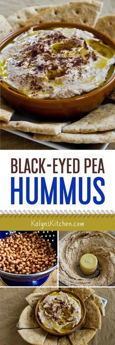 Black-Eyed Pea Hummus with Olive Oil and Sumac is a great way to get some black-eyed pea good luck in the New Year. This is delicious and perfect for a New Year's Eve party.  [found on KalynsKitchen.com]