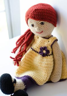 Doll Crochet Pattern! Meet Delia! Part of a series of adorable crochet doll patterns! Inspired by my childhood favorite rag doll, she has all the cuddly features that make her the perfect doll. You will love making this crochet doll. She has a clever construction that makes her very fun to crochet. Make her for yourself or for a special girl!  Pattern includes detailed instructions on how to make doll, her unique hair and how to position her facial features for the perfect look. PLUS…