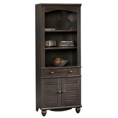 Sauder Harbor View Antiqued Paint 5-Shelf Bookcase ❤ liked on Polyvore featuring home, furniture, storage & shelves, bookcases, sauder, sauder bookshelves, distressed bookcase, 5 shelf bookcase and sauder furniture