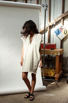 Natural Everyday Dress, Cropped Denim | Miranda Bennett Studio