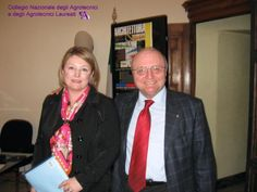 Marina Calderone e Armando Zingales, Presidente dei Chimici.