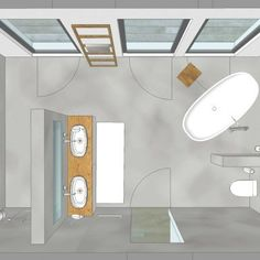 Bathroom Decor spa visualisierung, bad, wanne, was - bathroomdecor Bathroom Spa, Bathroom Faucets, Spa Tub, Bathroom Flooring, Modern Marble Bathroom, Bad Inspiration, Concrete Wood, Spa Design, Inspired Homes