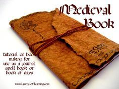 Medieval Book Making Tutorial - sewing machine needed; brwn paper bag, paper, crayon, embroidery floss