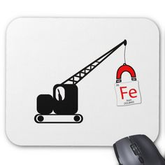 chemical element tile fe iron hanging from a cra mouse pad