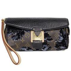 f433033497fd Louis Vuitton Limited Edition Monogram Fleur De Jais Manege Clutch