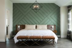 Master Bedroom wall Board and batten interior ideas - bedroom accent wall A Healthy Diet to Beat Anx Bedroom Retreat, Home Bedroom, Bedroom Decor, Bedroom Ideas, Wall Designs For Bedroom, Girls Bedroom, Bedroom Furniture, Bedroom Interiors, Brown Furniture
