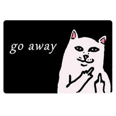 2016 New Go Away Cat Entrance Floor Mat