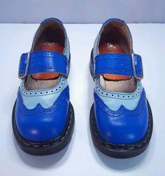 5ea5295fdcb Rare Vintage Blue Mary Janes Tredair Dr. Martens England Uk 5 Us 7 Doc