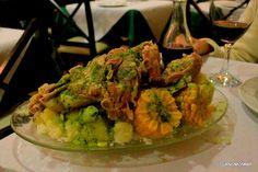 Traditional, peasant food in Tenerife Costillas & piñas - ribs & sweet corn - Casa Tomas, La Laguna.