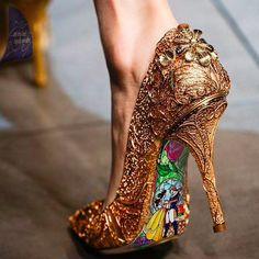Dolce & Gabbana 2013 - Photoshopped as Beauty and the Beast Shoes <3