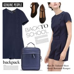 """Back to School Backpack"" by genuine-people ❤ liked on Polyvore featuring BackToSchool, backpacks and genuinepeople"