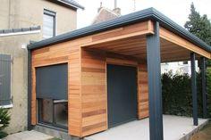 Garden Garage Ideas – Garden & Tips Outside Living, Outdoor Living, Outdoor Decor, Pergola With Roof, Architecture Design, Garage Doors, Shed, New Homes, Backyard