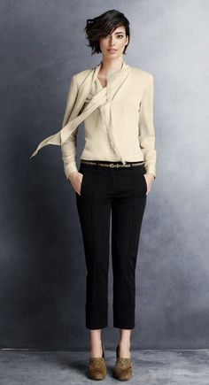 Ann Taylor. Would wear this to work with some classic pumps or two toned flats