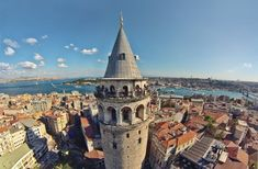 Galata Tower is one of the eye catching land mark of Istanbul for sure. This nine-story tower is meters tall and was the tallest building when it was built in 1348 during an expansion of the Genoese colony in Constantinople. The tower is used to c Istanbul Guide, Istanbul City, Istanbul Travel, Istanbul Turkey, Day Trips From Istanbul, Places To Travel, Places To Visit, City From Above, Story Instagram