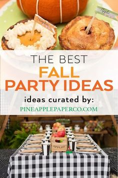 Fall Birthday Party Ideas curated by Pineapple Paper Co. Plan a fabulous fall pa… Fall Birthday Party Ideas curated by Pineapple Paper Co. Plan a fabulous fall party with these fall party themes! Apple Birthday Parties, Trains Birthday Party, Carnival Birthday Parties, Birthday Party Invitations, 70th Birthday, Girl Birthday, Birthday Ideas, Fall Party Themes, Party Ideas