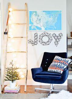 DIY Branch Ladder by Mandi of Vintage Revivals for Design*Sponge