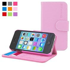 From 17.99 Iphone 4/4s Case Snugg - Candy Pink Leather Iphone 4/4s Flip Case [lifetime Guarantee] Premium Wallet Phone Cover With Card Slots For Apple Iphone 4/4s