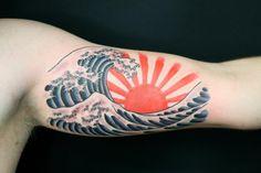 japanese rising sun ditch tattoo' | Wave Tattoo By Rhysgordoncom Quality Over Quantity