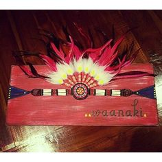 Waanaki - To Live in Peace This wall art I created by repurposing a headpiece. Great decor for the Boho Boy :)