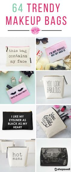 Every girl knows a trendy makeup bag is a fashion must. Find a makeup bag as pretty as the cosmetics you stash in them in this chic collection.